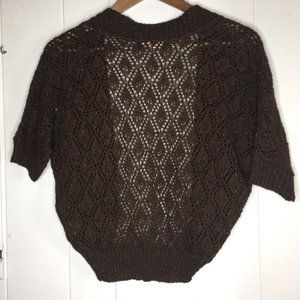 American Rag Sweater Shrug Size Large Brown